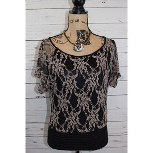 Tops - Sexy Black Layered Lace Top On or Off Shoulders